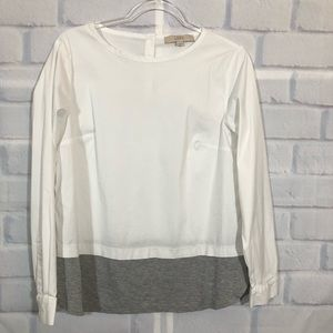 Loft White T-Shirt Blouse